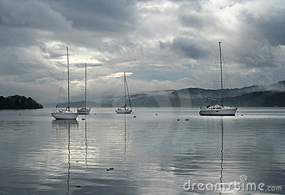 Sailing boats on Windermere