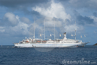 Sailing cruise ship Editorial Image