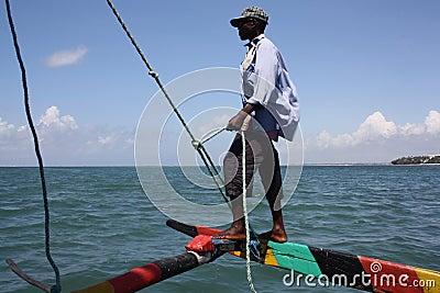 Sailing. Kenya. Editorial Stock Photo