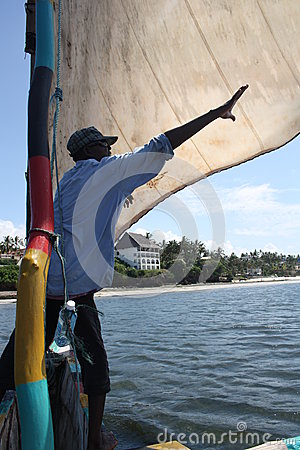 Sailing. Kenya. Editorial Stock Image
