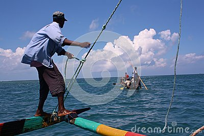 Sailing. Kenya. Editorial Stock Photo