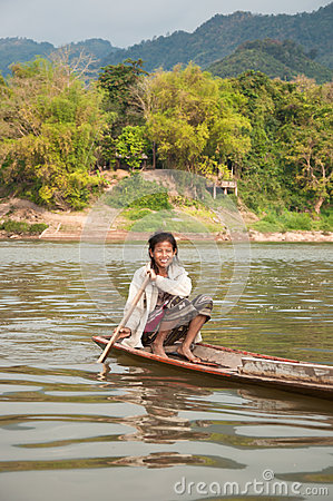 Sailing Laotian Woman Editorial Photo