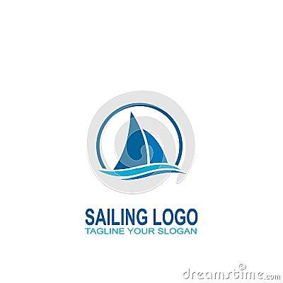 Free Sailing Logo Vector. Logo Creative Design Stock Image - 104438651