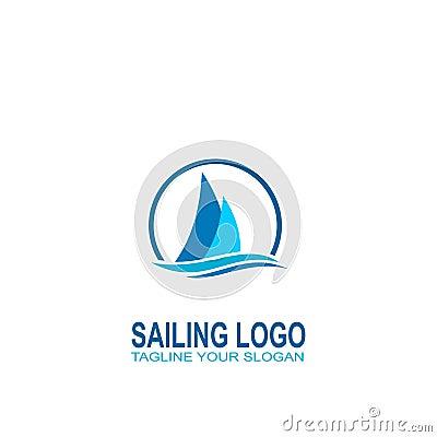 Free Sailing Logo Vector. Logo Creative Design Royalty Free Stock Photos - 104438658