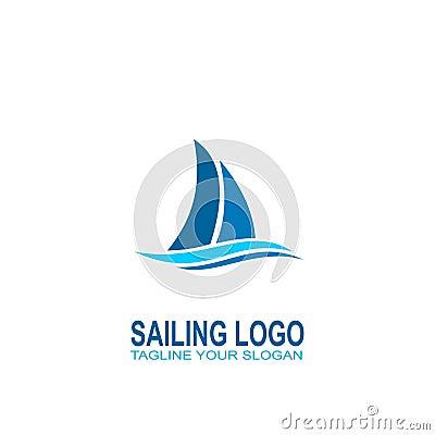Free Sailing Logo Vector. Logo Creative Design Royalty Free Stock Photography - 104438747