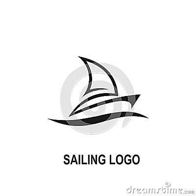 Free Sailing Logo Vector. Logo Creative Design Royalty Free Stock Photography - 104438887