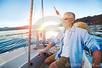 Sailing man portrait