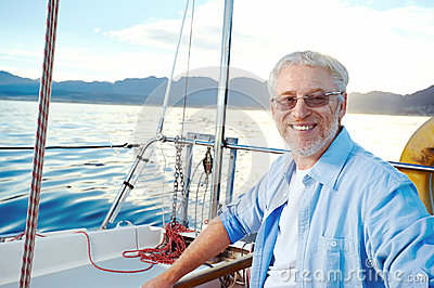 Sailing man portrait