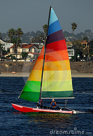 Sailing in Mission Bay