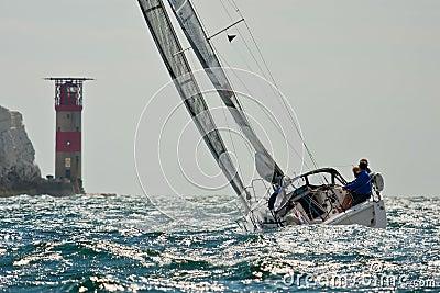 Sailing at the Needles