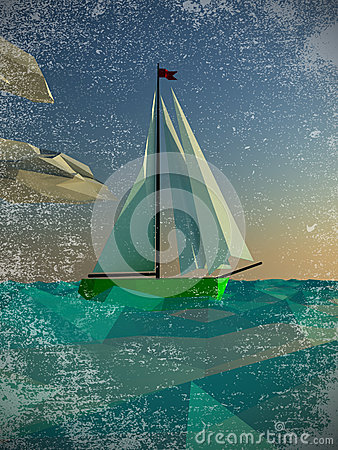 Sailing  polygon yacht