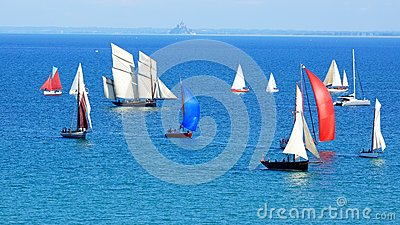 Sailing Regatta in the Cancale Bay. Editorial Photography