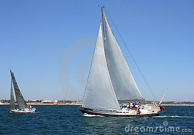sailing regatta of cruiser sailing yachts Editorial Photo