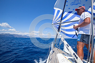 Sailing regatta from Marmaris to Fethiye, Turkey. Editorial Stock Photo