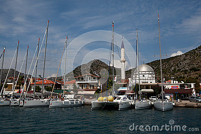 Sailing regatta from Marmaris to Fethiye, Turkey. Editorial Photography