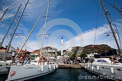 Sailing regatta in the Mediterranean Sea Editorial Image