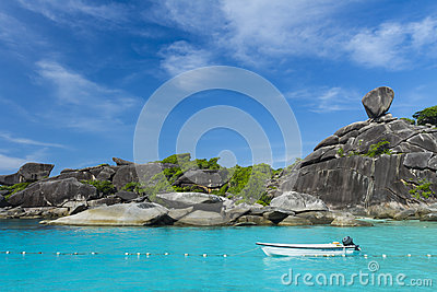 Sailing rock at Similan island