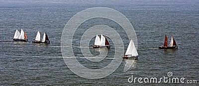 Sailing on sea