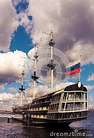 Free Sailing Ship At A Mooring Royalty Free Stock Image - 10855596