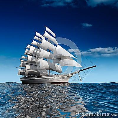 Free Sailing Ship At Sea Stock Photo - 16669910