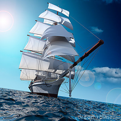 Free Sailing Ship At Sea Stock Images - 16794364