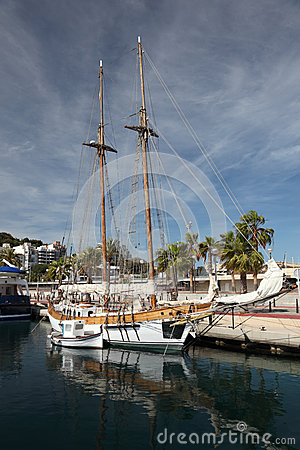 Sailing ship in Cartagena, Spain
