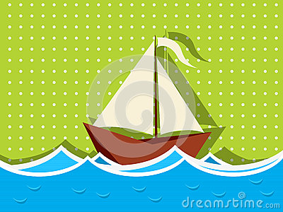 Sailing ship graphic