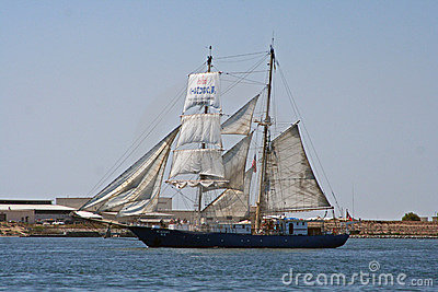 Sailing Ship Kaisei in San Diego Editorial Stock Photo