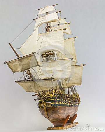 Free Sailing Ship Model Royalty Free Stock Photos - 35241248
