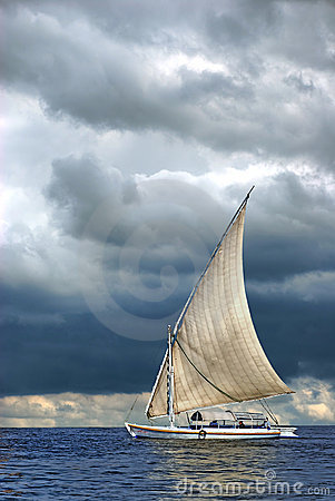 Sailing ship sea