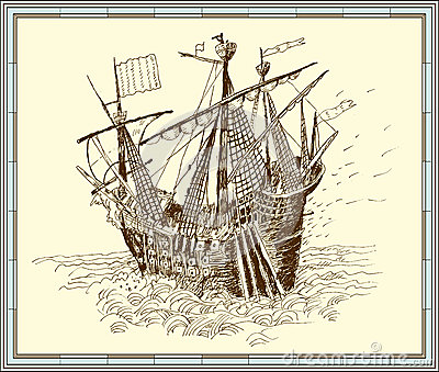 Sailing-ship. vector
