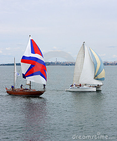 Sailing ships regatta Editorial Stock Image