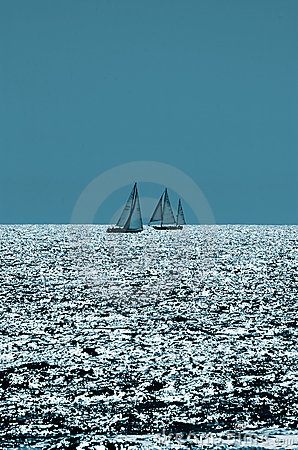 Sailing On Sparkling Seas Royalty Free Stock Photo - Image: 2133755