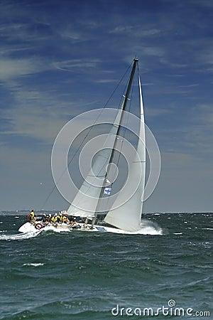 Sailing sport. Storm
