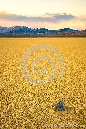 Sailing stones in the Racetrack, Death Valley