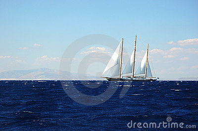 Sailing in the storm, exploring Greece