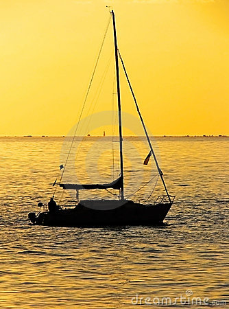 Sailing at sunset 2