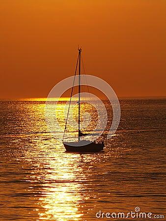 Free Sailing Sunset Stock Images - 6259374