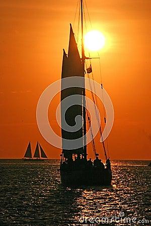 Free Sailing To The Sunset Stock Photos - 430303