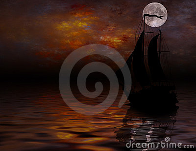 Sailing under full Moon