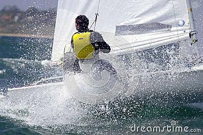 Sailing woman 002