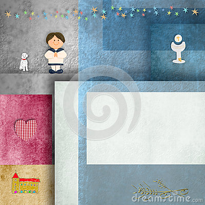 Holy communion invitations,sailor boy,and frame for photo or text