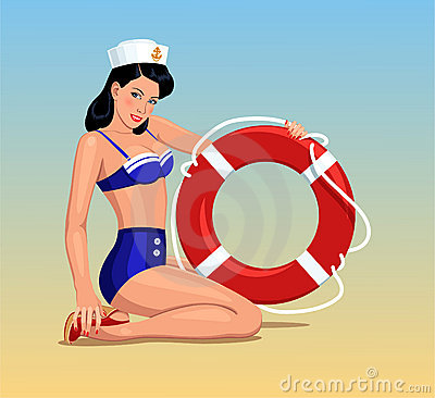 Sailor girl pin-up
