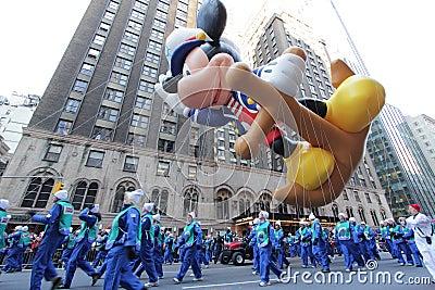 Sailor Mickey mouse balloon in Macy s parade Editorial Stock Photo