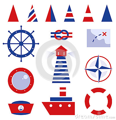 Sailor and sea icons