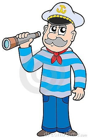 Free Sailor With Spyglass Royalty Free Stock Photo - 8783185