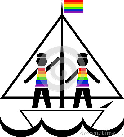 Sailors in rainbow vests