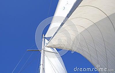 Sails in wind