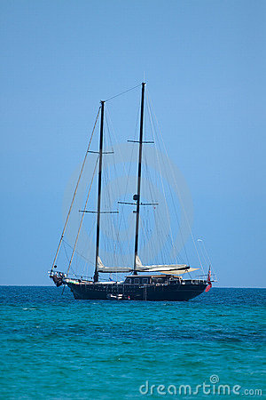 Sailship on the sea