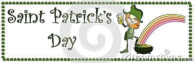 Sain Patricks Tagesfahne